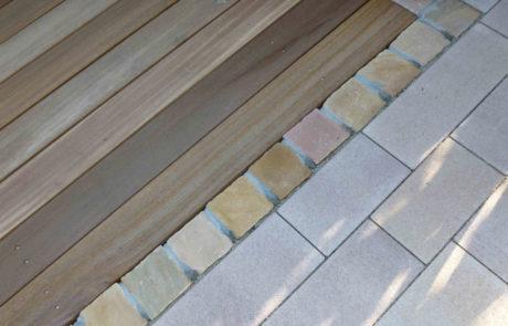 Betonstein Sandstein Holz