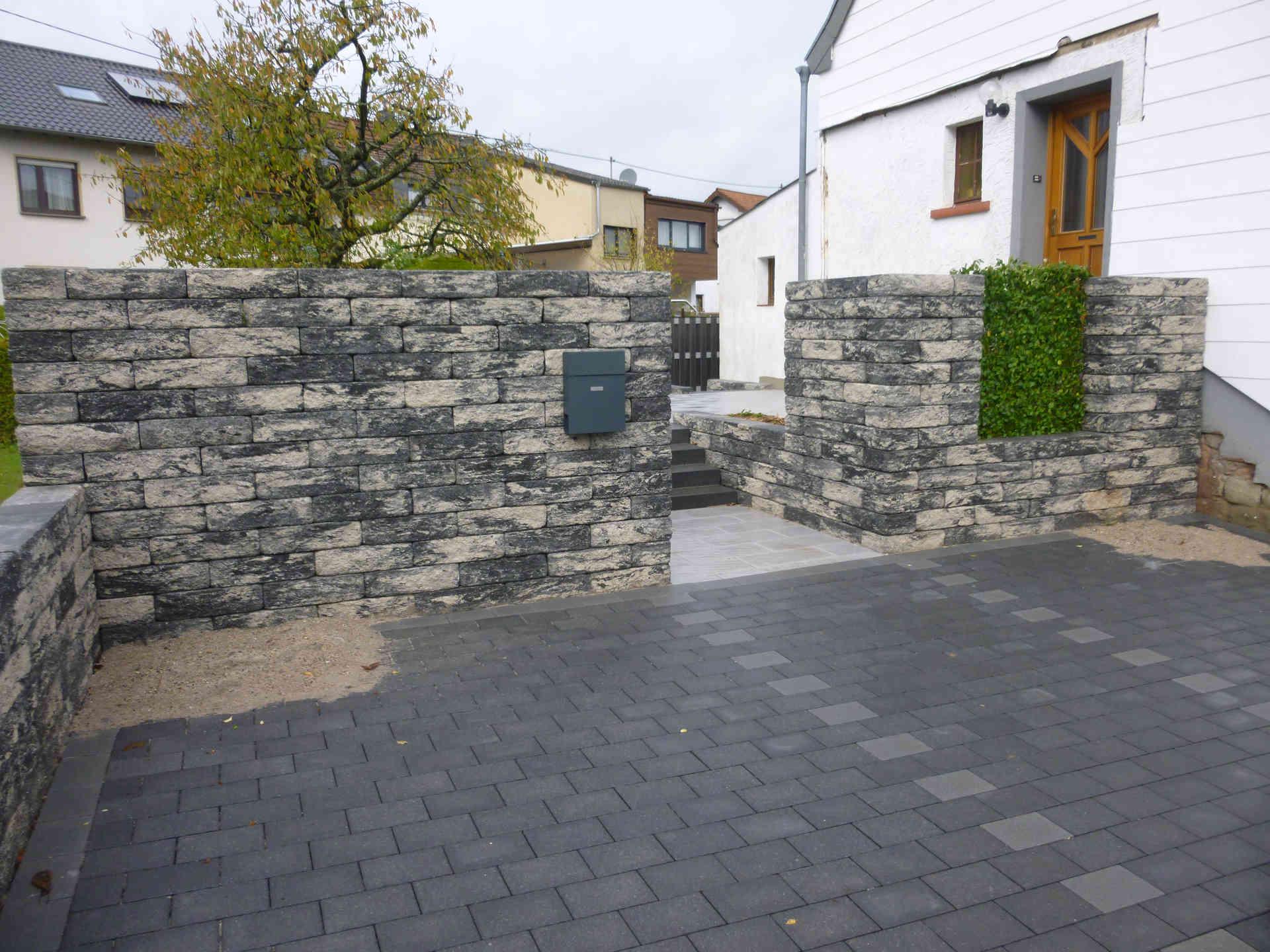 Eingangsbereich Mit Sichtschutzmauer 2