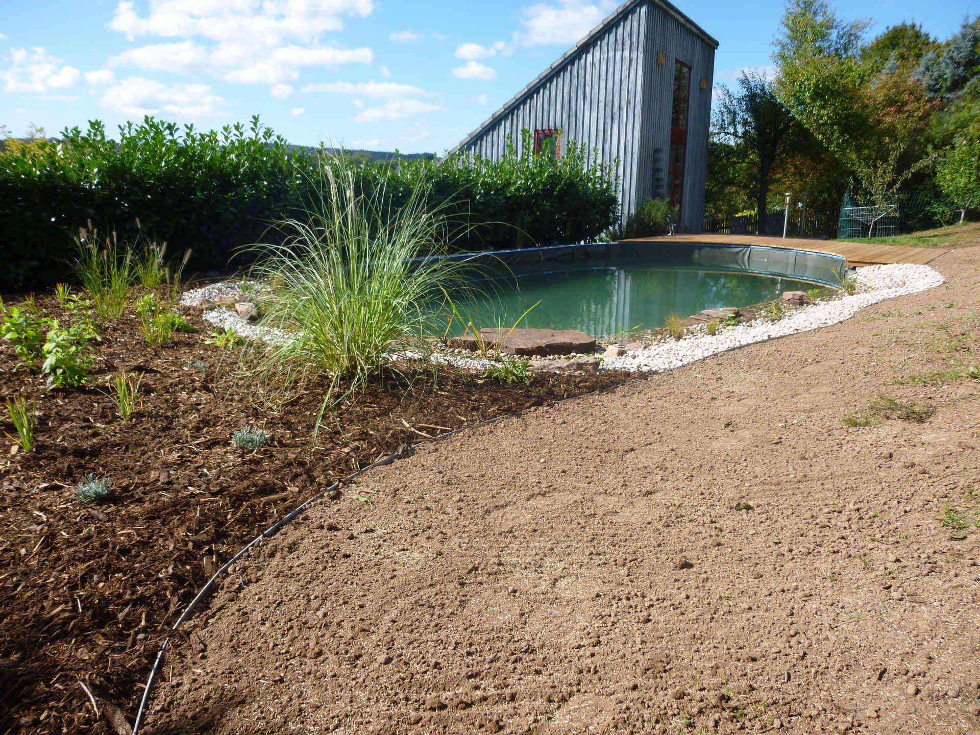 Gartengestaltung Mit Schwimmteich Nachher