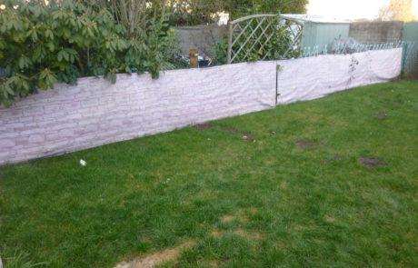 Gartenzaun Vorher 2