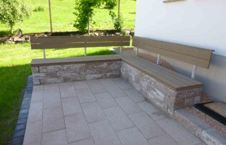 Moderne Vorgartengestaltung Mit Sitzbank