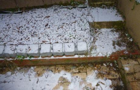 Terrasse Mit Alter Gartentreppe