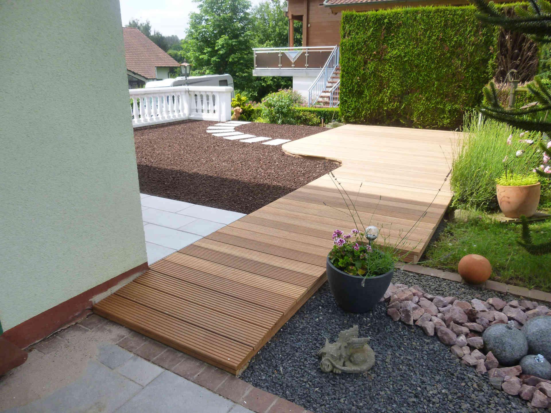 Terrassenbau Auf Garagendach