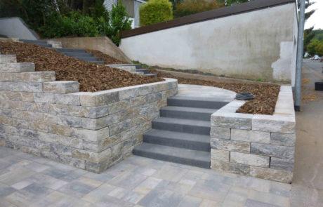 Treppenbau Mauerbau Im Hang Vorgarten