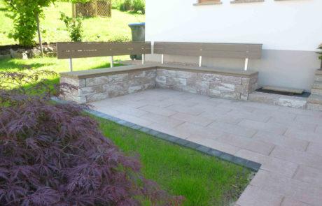 Vorgartengestaltung Terrasse